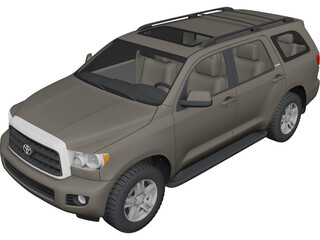 Toyota Sequoia (2010) 3D Model