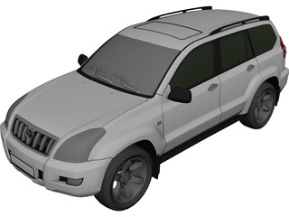 Toyota Land Cruiser Prado 120 (2010) 3D Model