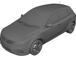 Kia Cee`d (2010) 3D Model 3D Preview