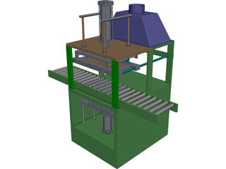 Heat Seal Machine CAD 3D Model