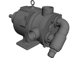 Viking Hydraulic Motor CAD 3D Model
