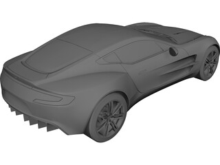 Aston Martin One-77 3D Model 3D Preview