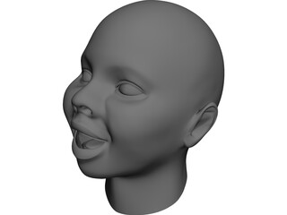 Baby Head 3D Model 3D Preview