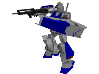 Gundam Alex RX-78 NT-1 CAD 3D Model