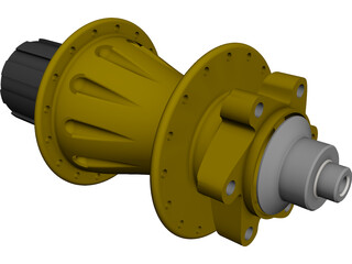 MTB Rear Freehub CAD 3D Model