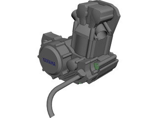 Yamaha wr450 Engine CAD 3D Model