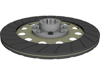Clutch Friction Disc CAD 3D Model