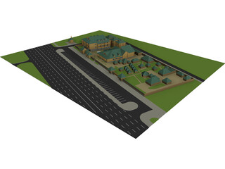 Pilgrimage Complex with Chapel 3D Model