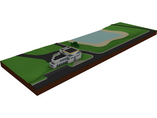 Recreational Complex 3D Model