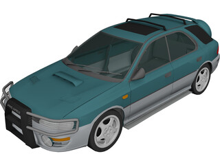 Subaru Impreza Wagon (1997) 3D Model