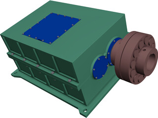 Gear Box CAD 3D Model