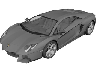 Lamborghini Aventador LP700-4 (2012) 3D Model 3D Preview