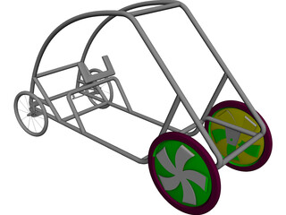 Shell Eco Marathon Car Chassis CAD 3D Model