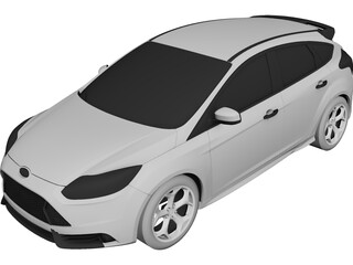Ford Focus ST (2012) 3D Model