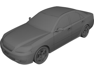Toyota Mark II (2001) 3D Model