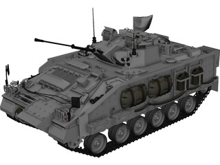 Warrior MCV UN 3D Model