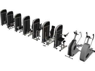 Fitness Equipment Collection 3D Model