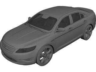 Ford Taurus (2010) 3D Model 3D Preview