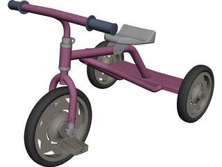 Tricycle CAD 3D Model