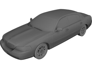 Lincoln Town Car 3D Model 3D Preview