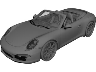 Porsche 911 (991) Carrera S Cabriolet (2012) 3D Model 3D Preview
