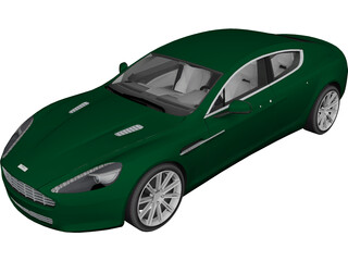 Aston Martin Rapide (2010) 3D Model 3D Preview