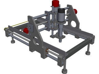 CNC Router Machine CAD 3D Model
