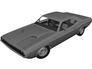 Dodge Challenger RT (1970) 3D Model