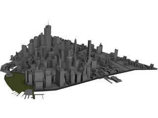 Lower Manhattan 3D Model