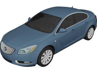 Buick Regal CXL (2011) 3D Model