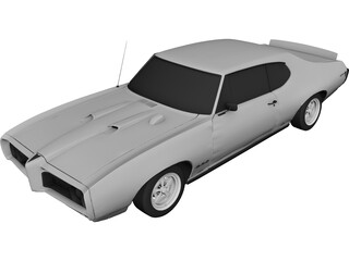 Pontiac GTO (1968) 3D Model 3D Preview
