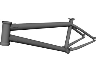 Bike Frame CAD 3D Model