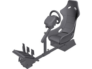 Gamer Race Seat CAD 3D Model