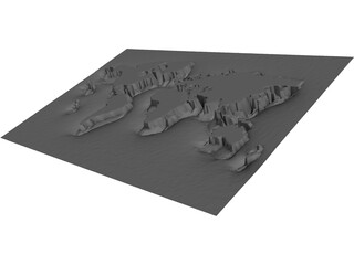 Earth Map 3D Model