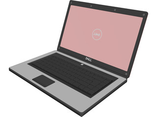 Dell Inspiron Laptop CAD 3D Model