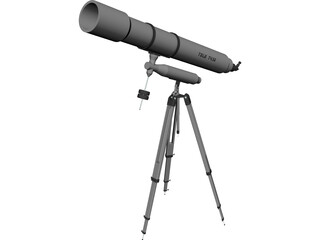Potable Telescope T430 CAD 3D Model