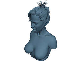 Female Torso Head 3D Model