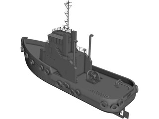 Sydney Tug Boat 3D Model 3D Preview