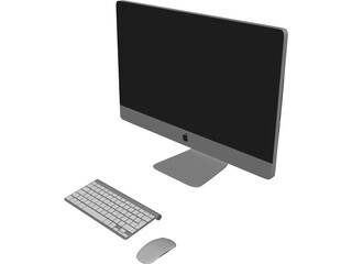 Apple iMac 27 inch 3D Model 3D Preview