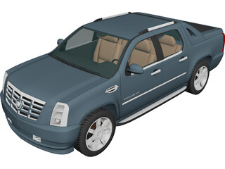 Cadillac Escalade EXT (2007) 3D Model