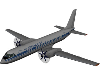 Ilyushin IL-114 3D Model