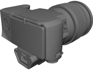 Sony A44 Digital Camera CAD 3D Model