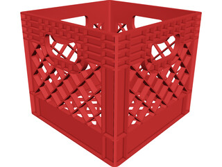 Milk Crate CAD 3D Model