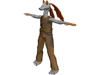 Star Wars Jar Jar Binks 3D Model