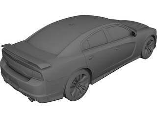 Dodge Charger SRT8 (2012) 3D Model