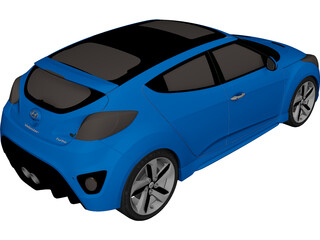 Hyundai Veloster (2012) 3D Model 3D Preview