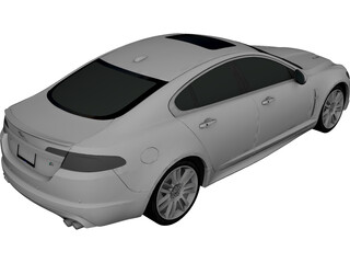 Jaguar XFR (2009) 3D Model 3D Preview