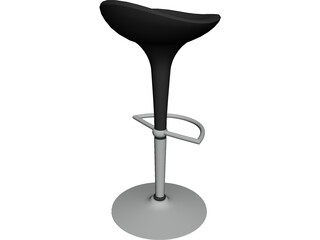 High Barstool 3D Model