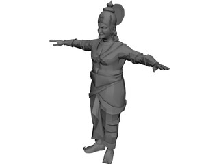 Indian King 3D Model 3D Preview