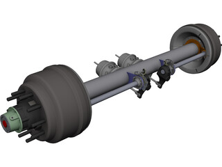 Axle Trailer CAD 3D Model